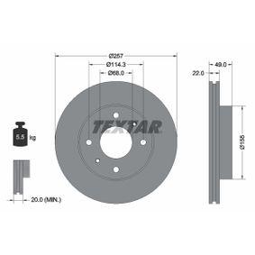 Bremsscheibe Bremsscheibendicke: 22,0mm, Ø: 257mm mit OEM-Nummer 40206 71E06