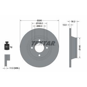 Bremsscheibe Bremsscheibendicke: 13mm, Ø: 280mm mit OEM-Nummer 8A0615301