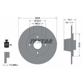 Bremsscheibe Bremsscheibendicke: 8mm, Ø: 238mm mit OEM-Nummer 77.00.805.148
