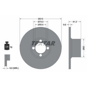 Bremsscheibe Bremsscheibendicke: 9,6mm, Ø: 213mm mit OEM-Nummer GBD 806