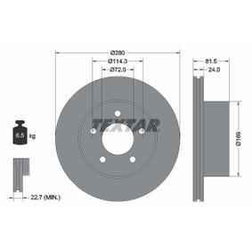 Sensor de Presión de Aceite JEEP CHEROKEE (XJ) 2.5 de Año 10.1990 121 CV: Disco de freno (92113500) para de TEXTAR