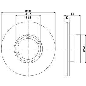 Bremsscheibe Bremsscheibendicke: 30,0mm, Ø: 304mm mit OEM-Nummer 669 421 0612