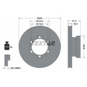Bremsscheibe Bremsscheibendicke: 30,0mm, Ø: 304mm mit OEM-Nummer 668 421 0112