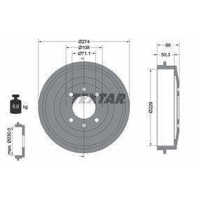 Bremstrommel Trommel-Ø: 229mm, Br.Tr.Durchmesser außen: 274mm mit OEM-Nummer 4247.24