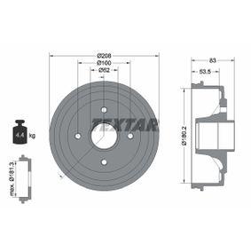 Bremstrommel Trommel-Ø: 180,2mm, Br.Tr.Durchmesser außen: 208mm mit OEM-Nummer 4247 19