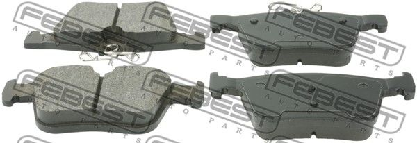 Bremsbeläge 2301-5G1R FEBEST 2301-5G1R in Original Qualität