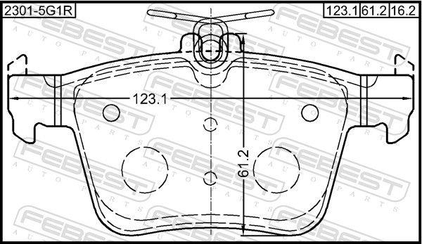 Bremsbelagsatz FEBEST 2301-5G1R Bewertung