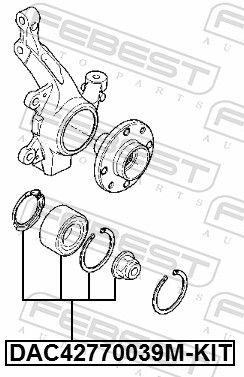 Radlager & Radlagersatz FEBEST DAC42770039M-KIT Bewertung