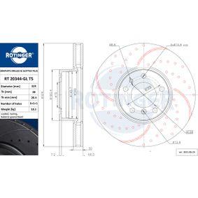 Bremsscheibe Bremsscheibendicke: 30mm, Lochanzahl: 5, Ø: 324mm mit OEM-Nummer 6 767 059