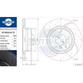 Bremsscheibe Bremsscheibendicke: 20mm, Lochanzahl: 5, Ø: 300mm mit OEM-Nummer 34 21 6 783 754