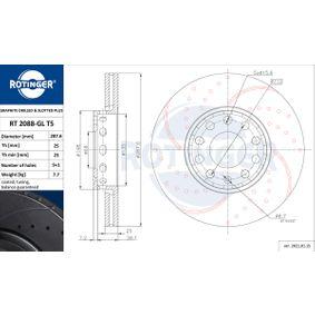 Bremsscheibe Bremsscheibendicke: 25mm, Lochanzahl: 9, Ø: 288mm mit OEM-Nummer 443 501 615