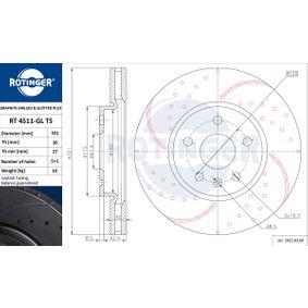 Bremsscheibe Bremsscheibendicke: 30mm, Lochanzahl: 5, Ø: 321mm mit OEM-Nummer 05 69 422