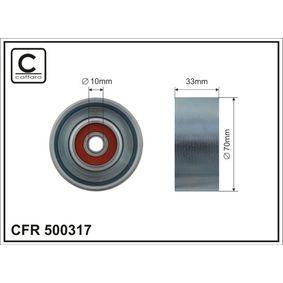 Umlenkrolle Keilrippenriemen Ø: 70mm mit OEM-Nummer 11927-ED000