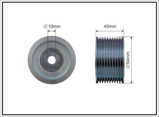 CAFFARO  500416 Umlenkrolle Keilrippenriemen Ø: 64mm