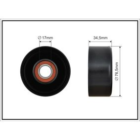 Deflection / Guide Pulley, v-ribbed belt Ø: 76mm with OEM Number 31170-RAA-A02