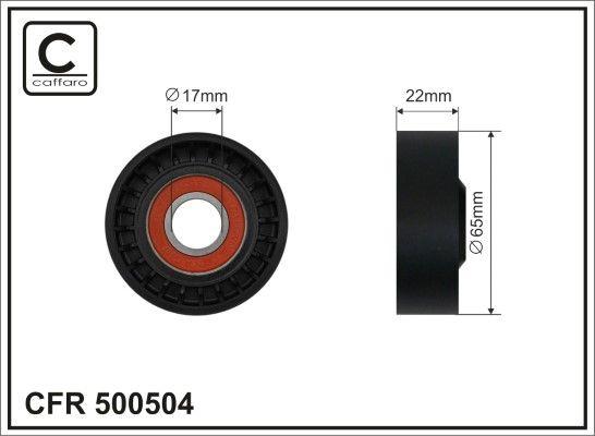 CAFFARO  500504 Tensioner Pulley, v-ribbed belt Width: 22mm