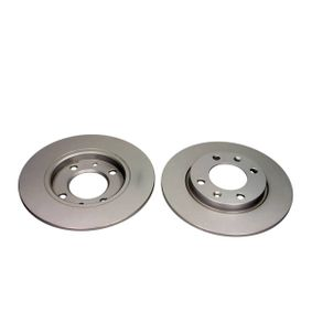 QUARO Brake disc kit Rear Axle, Solid, Coated, without wheel hub, without wheel studs