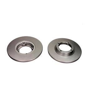 QUARO Brake disc kit Front Axle, Solid, Coated, without wheel hub, without wheel studs