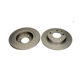QUARO Brake disc kit Solid, Coated, without wheel hub, without wheel studs