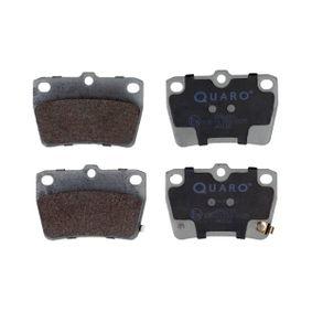 Brake Pad Set, disc brake QP6243 RAV 4 II (CLA2_, XA2_, ZCA2_, ACA2_) 2.4 4WD MY 2003