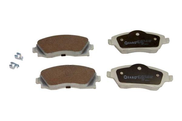 QUARO  QP7150 Bremsbelagsatz, Scheibenbremse Breite 1: 131,7mm, Breite 2: 131,7mm, Höhe 1: 52,3mm, Höhe 2: 55,4mm, Dicke/Stärke: 17mm