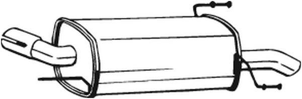 BOSAL  185-553 Endschalldämpfer