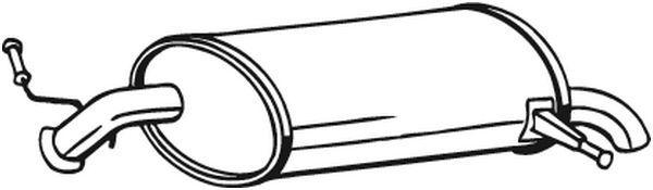 BOSAL  190-031 Endschalldämpfer