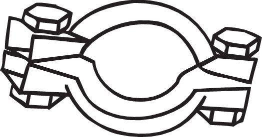 Klemmstück, Abgasanlage BOSAL 254-627 3351642546270