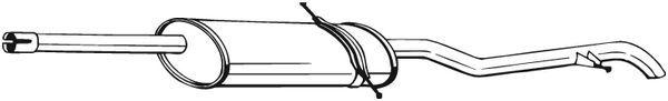 Pot d/'échappement Mercedes Vaneo 1.6 60 75 Kw 2002-2005 Système D/'échappement échappement a117