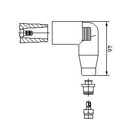 Golf 4 2.3 V5 Zündkerzenstecker BREMI 13552A1 (2.3 V5 Benzin 2000 AGZ)