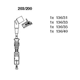 BREMI  203/200 Zündleitungssatz