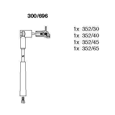BREMI  300/696 Juego de cables de encendido