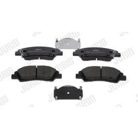 Bremsbelagsatz, Scheibenbremse Höhe 1: 50,5mm, Dicke/Stärke: 16,6mm, 17,0mm mit OEM-Nummer 58101-B4A00