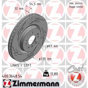Спирачен диск 400.3648.54 M-класа (W164) ML 320 CDI 3.0 4-matic (164.122) Г.П. 2006