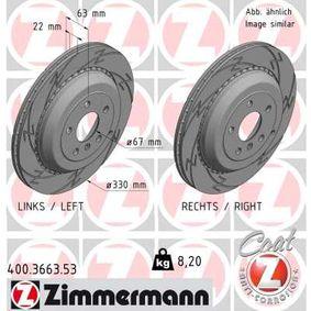 ZIMMERMANN BLACK Z 400.3663.53 Спирачен диск Ø: 330мм