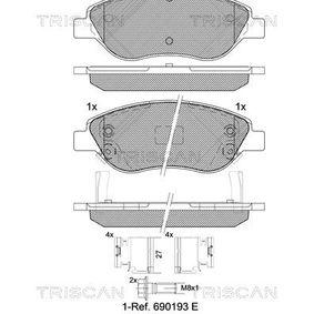 Bremsbelagsatz, Scheibenbremse Breite: 150,8mm, Höhe: 57,64mm, Dicke/Stärke: 19,5mm mit OEM-Nummer 7 736 792 3