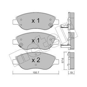 Bremsbelagsatz, Scheibenbremse Dicke/Stärke 1: 19,0mm mit OEM-Nummer 7 736 792 3