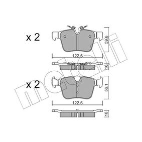 Brake Pad Set, disc brake Width 2 [mm]: 122,5mm, Height 2: 56,1mm, Thickness 1: 16,0mm, Thickness 2: 16mm with OEM Number LR-123595