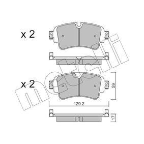 Kit de plaquettes de frein, frein à disque Épaisseur 1: 17,0mm avec OEM numéro 8W0 698 451N