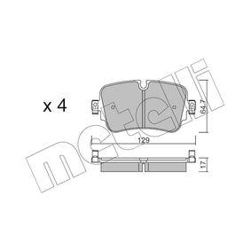 Brake Pad Set, disc brake Thickness 1: 17,0mm with OEM Number 4M0 698 451 P