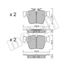 Bremsbelagsatz, Scheibenbremse Breite 2: 122,5mm, Höhe 2: 64,2mm, Dicke/Stärke 1: 16,0mm, Dicke/Stärke 2: 16mm mit OEM-Nummer A000 420 59 00