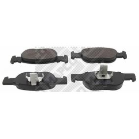 Brake Pad Set, disc brake 6285 PUNTO (188) 1.2 16V 80 MY 2000