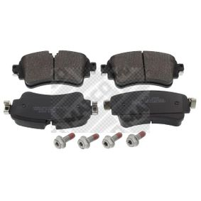 Brake Pad Set, disc brake Width: 129,2mm, Height: 59,1mm, Thickness: 17,5mm with OEM Number 8W0698451N