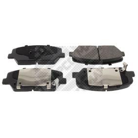 Bremsbelagsatz, Scheibenbremse Höhe: 60mm, Dicke/Stärke: 18mm mit OEM-Nummer 58101 A7A20