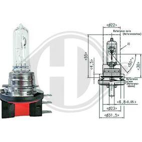 Крушка с нагреваема жичка, главни фарове Н15, PGJ23T-1, 12волт, 55/15ват LID10021