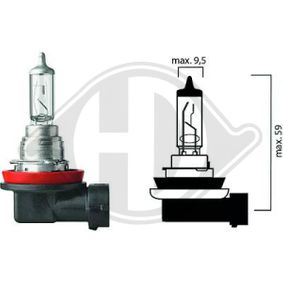 Bulb, headlight H16, PGJ19, 12V, 19W LID10022