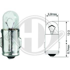 Glühlampe, Instrumentenbeleuchtung mit OEM-Nummer 12V2W DIEDERICHS