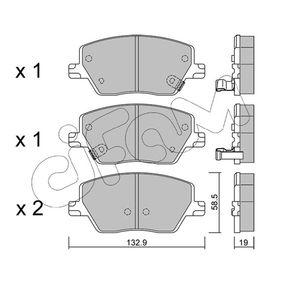Bremsbelagsatz, Scheibenbremse Dicke/Stärke 1: 19,0mm mit OEM-Nummer 77367628