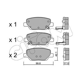 Bremsbelagsatz, Scheibenbremse Dicke/Stärke 1: 17,5mm mit OEM-Nummer 77367717