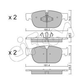Bremsbelagsatz, Scheibenbremse Breite 2: 181,4mm, Höhe 2: 75mm, Dicke/Stärke 2: 18,5mm mit OEM-Nummer 3 149 990 6